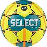 SELECT Optimo Balón de Balonmano, Unisex Adulto, Amarillo Verde Rojo, 2