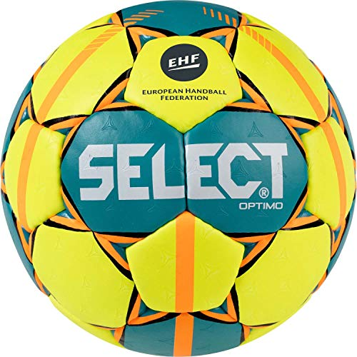 SELECT Optimo, Pallone da Pallamano Unisex-Adulti, Giallo/Verde/Rosso, 2