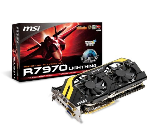 Msi V278-018R AMD Radeon HD 7970 GHz Edition Grafikkarte (ATI, PCI-e, 3GB, GDDR5 Speicher, Mini Display-Port, DVI-I/D, 1 GPU)