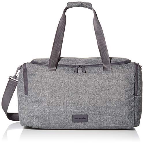 Vera Bradley Damen Small Bag, Recycled Recycelte Lighten Up Reactive Kleine Gym Reisetasche, Heather, Einheitsgröße, Grau meliert