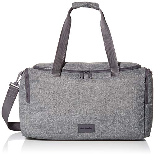 Vera Bradley Women's Recycled Lighten Up ReActive Small Gym Travel Bag, Gray Heather, One Size