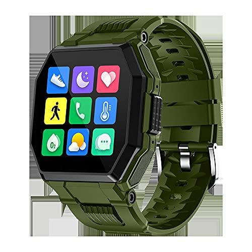 huanglanshangmao Wireless Phone Music Watch HD Pantalla Grande Modo de Deportes multifunción Modo cardíaco Detección de presión Arterial Detección Inteligente (Color : 3)