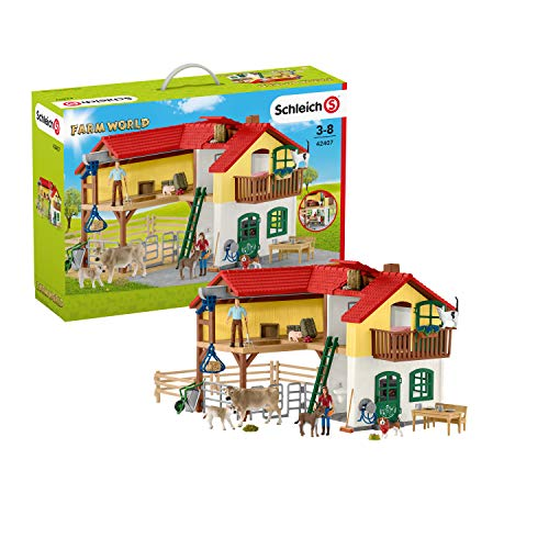 Schleich Farm World Large Farm House 52-piece Educational Playset for Kids Ages 3-8