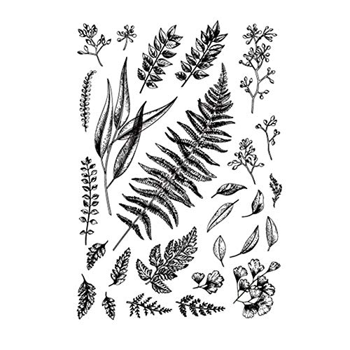 Leaves Flowers Stamp Rubber Clear Stamp/Seal Scrapbook/Photo Album Decorative Card Making Clear Stamps
