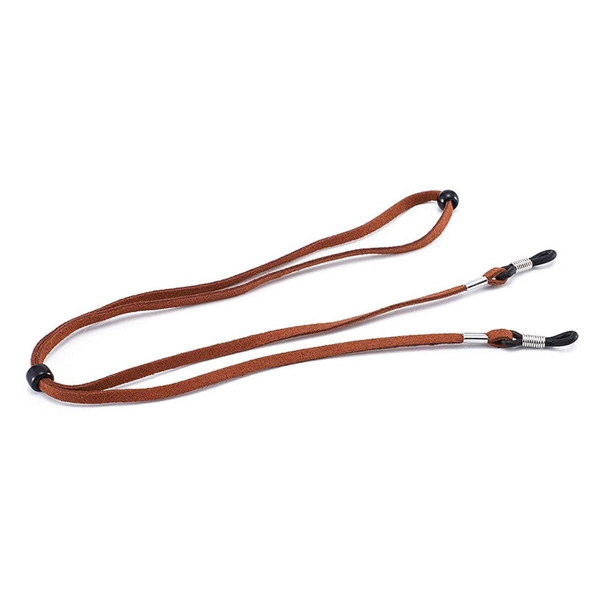 ナチュラル署名少ないメガネストラップネックコード調整可能なサングラスメガネロープストラップホルダーアンチスリップストラップアイウェアアクセサリーC097-ライトブラウン