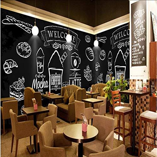 Dalxsh foto behang met de hand beschilderd krijt geschilderd gebakken kip hamburger muur westerse Fast Food Shop Koffie Cafe behang muurschildering 280x200cm