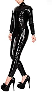 Inflatable Latex Rubber Catsuit 0.4MM Thickness Latex Rubber Back Zipeed Catsuit (XL(B100 W84 H102CM))