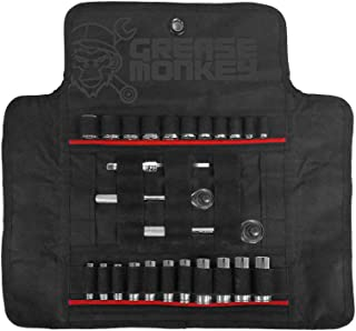 Grease Monkey Socket Roll Tool Organizer & Carrier, GM-22008,Black & Red Carflage