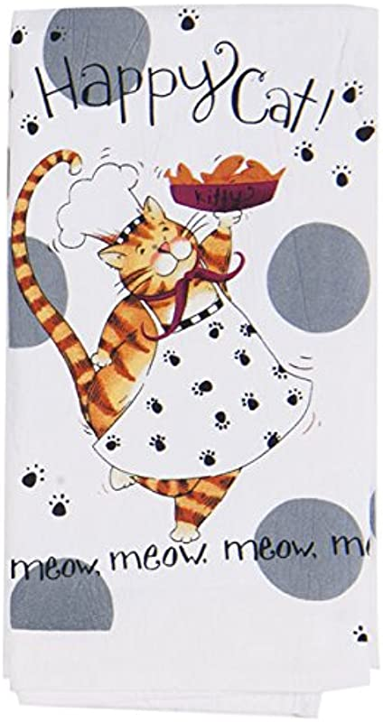 Kay Dee Designs Happy Cat Flour Sack Towel