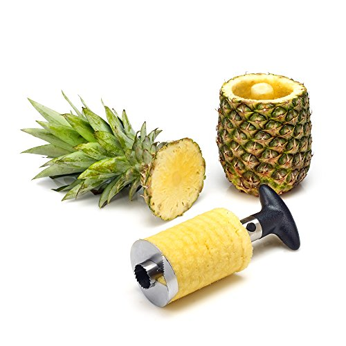 statko® Edelstahl Ananasschneider, Schäler und Entkerner