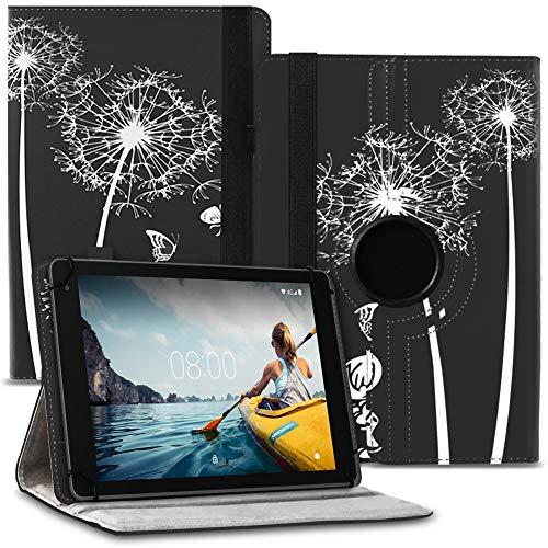 Tablet Hülle kompatibel für Medion Lifetab E10702 Tasche Schutzhülle Hülle Universal Cover aus Kunst-Leder Standfunktion 360° Drehbar praktische Standfunktion, Farbe:Motiv 9