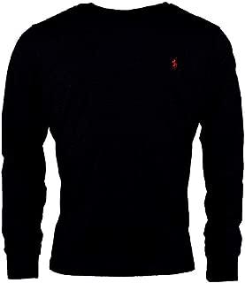 Polo Ralph Lauren Men Long Sleeve Pony Logo T-Shirt (Large, Jet Black)