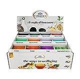 L'Angelica, Cofanetto Tisane Calde, Box Con Tisane e Tè Assortiti, 120 Bustine