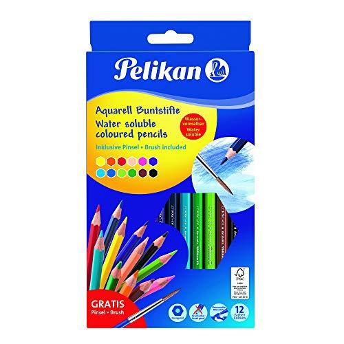 Pelikan 700672 Buntstifte Aquarell, 12 Stück