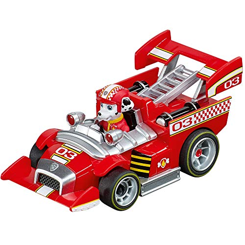 Carrera 64176 PAW Patrol Ready Race Rescue Marshall 1:43 Scale Analog Slot Car Racing Vehicle for Carrera GO!!! Slot Car Race Tracks