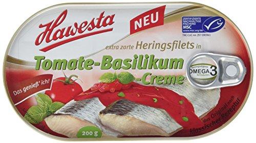 Hawesta Heringsfilets Tomate-Basilikum, 10er Pack (10 x 200 g)