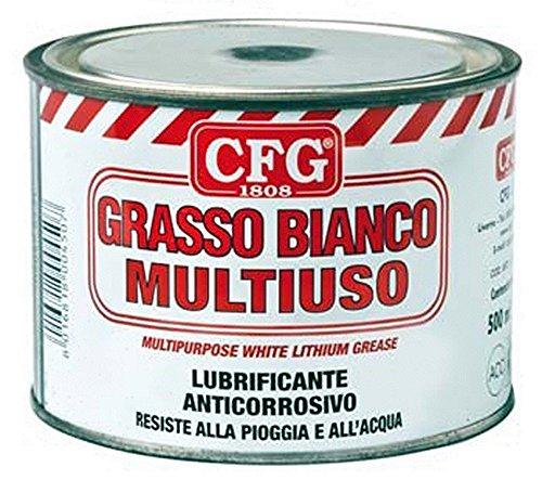 CFG 500ML GRASSO LITIO BIANCO MULTIUSO LUBRIFICA PROTEGGE CORROSIONE INGRANAGGI MECCANICI INDUSTRIA NAUTICA AUTO REPELLENTE ACQUA SBALZI TEMPERATURA