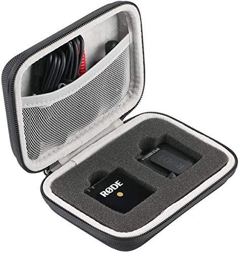 Khanka Hart Tasche Schutzhülle Für RØDE RODE Wireless Go Compact Mikrofonsystem kabellos Etui Case .(Nur tasche)