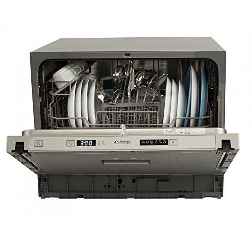 Flavia CI 55 Havana P5 • Spülmaschine • vollintegrierter kompakter Geschirrspüler • 55 cm breit • Höhe: 44 cm • für 6 Maßgedecke • 6 Programme • Aquastop • leise 49 dB • energieeffizient