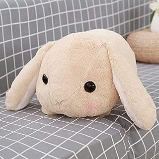 Tequila DS Animals Stuffed Pillow Rabbit Dolls Plush Classical Lying Rabbit Toy Amuse Lolita Loppy Rabbit Kawaii Plush Pillow for Kids Friend Girls-brown-40cm