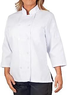 KNG Women's White Classic ¾ Sleeve Chef Coat