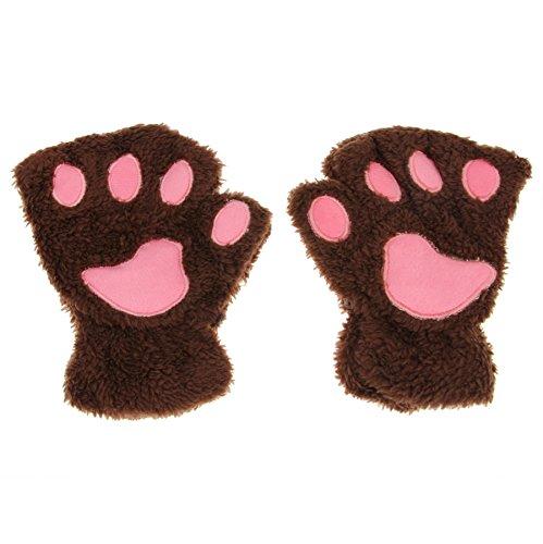 Unimango mujeres invierno diseño gato oso peluche