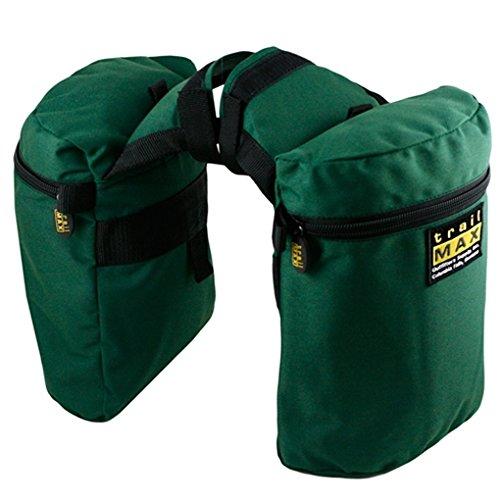 Trailmax Original - Alforjas para silla con cuerno - Equipaje para silla vaquera de cowboy - Verde