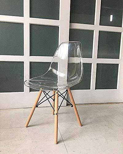 LKAIBIN Sillas de plástico de Cristal Mesa de Comedor y sillas Presidente Creativa Moderna y Simple de la negociación Silla Transparente Silla de Estilo escandinavo (Color : A)