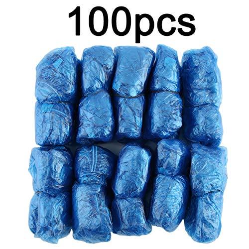 100 Pz/set Copriscarpe in plastica usa e getta Camere Esterne Impermeabile Stivali da pioggia Tappeto Pulito Ospedale Soprascarpe Cura scarpe Kit di Ballylelly