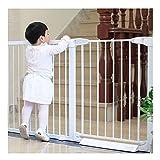 ZHANWEI ベビーゲート 自動クローズ ペットゲート 出入り口の場合、 圧入 壁の保護、 ペットの犬の階段のキッチンのバスルーム (Color : White, Size : 113-119cm)