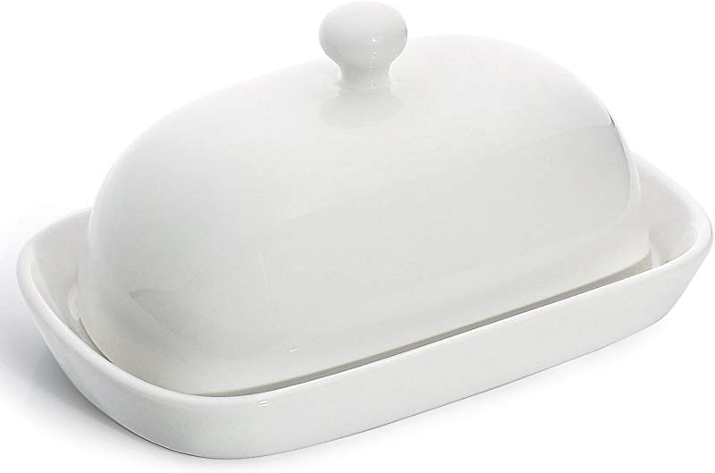 Sweese 3164 Porcelain Cute Butter Dish With Lid Perfect For East West Butter White