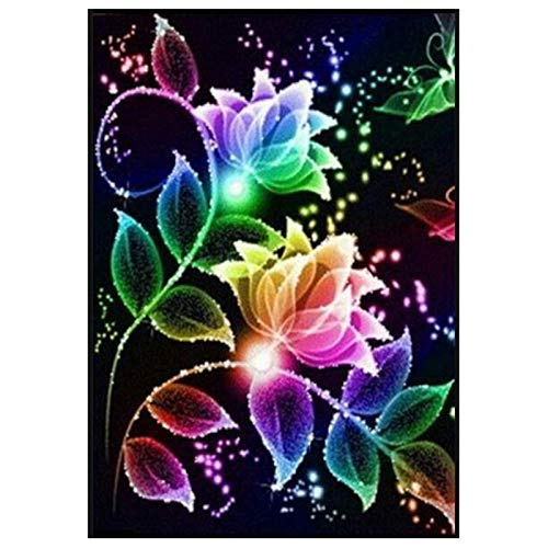 3D Diamond Embroidery Color Flowers 5d Diamond Painting Full Diamond Mosaic Picture of Rhinestones Cross-Stitch Christmas Gifts
