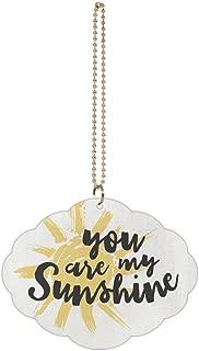 P. Graham Dunn You are My Sunshine White 4 x 3 Wood Hanging Car Dangle Charm