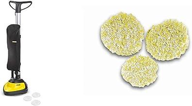 Kärcher 10568220 Floor Polishers, Steel 600 W, 4 liters, Black/Yellow & FP303 Stone / Linoleum / PVC Polishing Pads x 3
