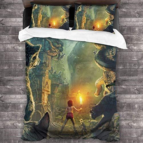 Bettwäsche Bettbezug 3-teiliges Set Das Dschungelbuch Bettwäsche Bettbezug Sets für Kinder Frauen Männer