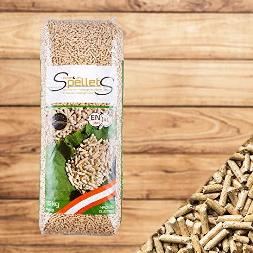 Madera pel Lets pellets brennpel Lets 30kg (2x 15kg) Saco Ware dinplus ÖNORM (Precio Base 0,45Euro/kg)