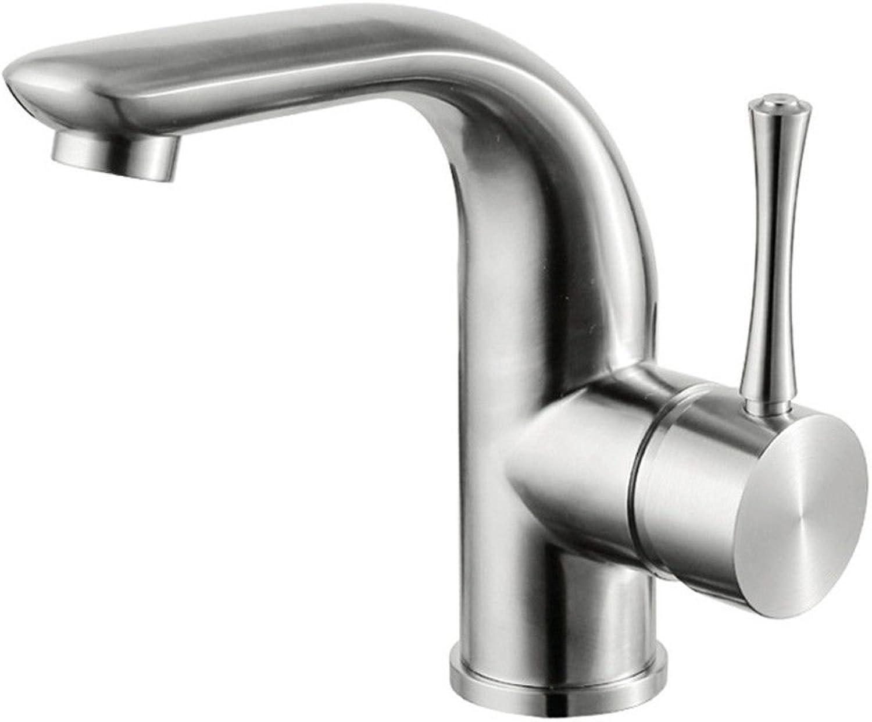 SHLONG Wasserhahn Warm- und Kaltwasser-Mischbatterie Warm- und Kaltwasser-Mischbatterie aus Edelstahl
