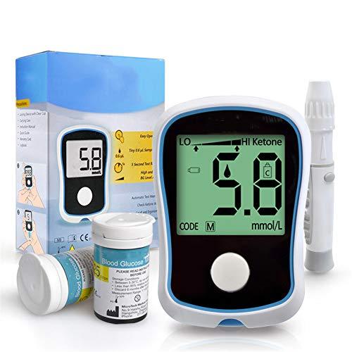 ZYFWBDZ Misuratore di glucosio nel Sangue Misuratore di glucosio nel Sangue Misuratore di precisione del diabete 50 Strisce 50 ago per prelievo di Sangue 50 Cotone Alcool,A