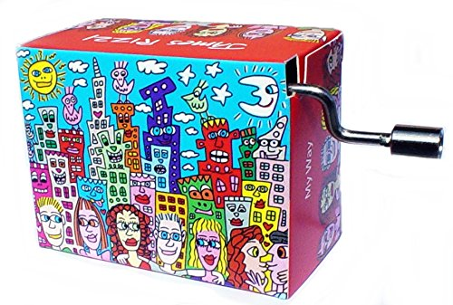 James Rizzi Spieluhr Mini Drehorgel Melodie My Way / Kurbelwerk