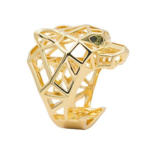 Tono oro rame e CZ leopardo pantera anello di uomini e donne e rame, 7, cod. pieces