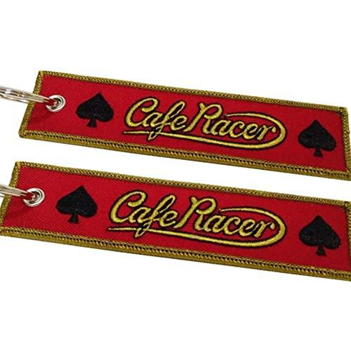 Cafe Racer Spades Rojo Llavero Doble Cara (1 Pieza)