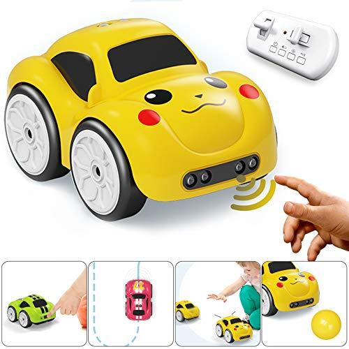 le-idea Coche Teledirigido, 2.4GHz 4WD Música Inteligente RC Camión de Juguete, Mini Coche Eléctrico Educativo Recargable, Regalo de Cumpleaños de Navidad para Niños en Edad Preescolar Niños Niñas