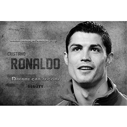 CHENGXI Cristiano Ronaldo Rompecabezas 500/1000/1500 Piezas for Adultos de los niños de Madera de Fútbol Superstar Copa Mundial de Inteligencia Rompecabezas Juguetes R/610 ( Size : 500 Pieces )