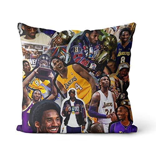 Funda de cojín Kobe Bryant 45 x 45 cm Los Angeles um Cuatro Relojes por la mañana Kobe Bryant Funda de cojín decorativa para sofá, dormitorio, salón decoración