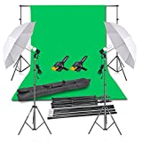 Emart Photography Backdrop Continuous Umbrella Studio Lighting Kit, Muslin...