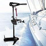 Motor trolling eléctrico de 80 kg, motor fueraborda hinchable, barco de pesca azul marino