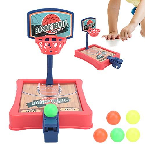 BOLORAMO Juego de Baloncesto de Escritorio, Mini Juguete portátil de interacción Entre Padres e Hijos niños(Red)