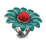Gucci - Anillo de Plata de Ley 925, diseño de Flores, tamaño 6, 3/4, YBC525203001014