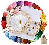 🌸Large Gamme D'utilisations: Couleur, accessoires complets,bonne texture, adapté à la broderie de divers motifs,tels que la couture domestique,la broderie à la main,le point de croix,les tissus de bricolage.