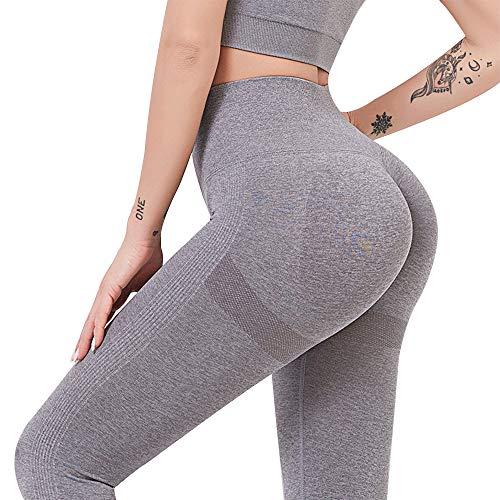 TOPmontain - Leggings deportivos para yoga, ajustados, para entrenamiento, cintura alta, 6 colores para mujer, cómodos, ajustados, para correr, gimnasio, deporte, leggings